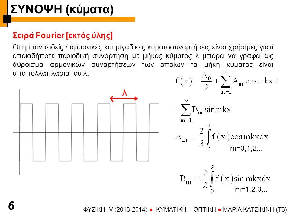 ΣΥΝΟΨΗ (κύματα) 6 Σειρά Fourier [εκτός ύλης]